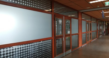 Windesheim Zwolle/glasdecoratie
