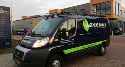 Meekers-Wrappen bedrijfswagen en voorzien van reclame